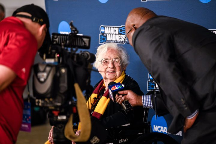 Sister Jean Dolores-Schmidt is having her moment in the limelight after her Loyola University Chicago team has posted tw