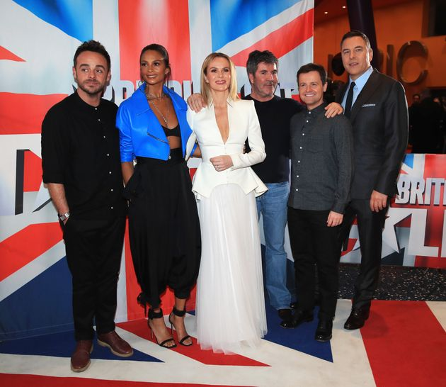 Ant waswith his 'BGT' palsAlesha Dixon, Amanda Holden, Simon Cowell, Declan Donnelly and...