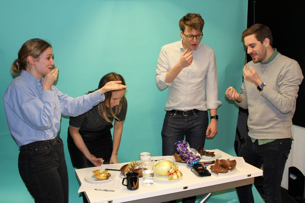 Judges tried a gin truffle Easter egg and chaos ensued.