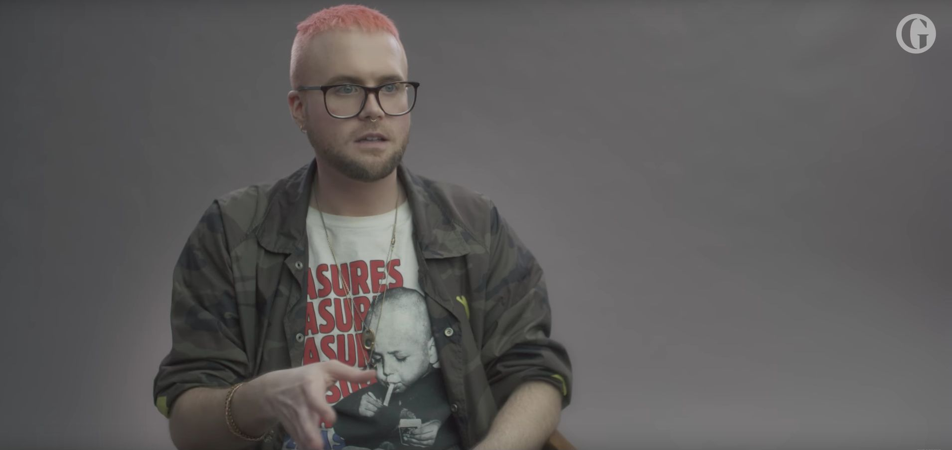 Christopher Wylie in a Guardian video that you must embed to use this photo