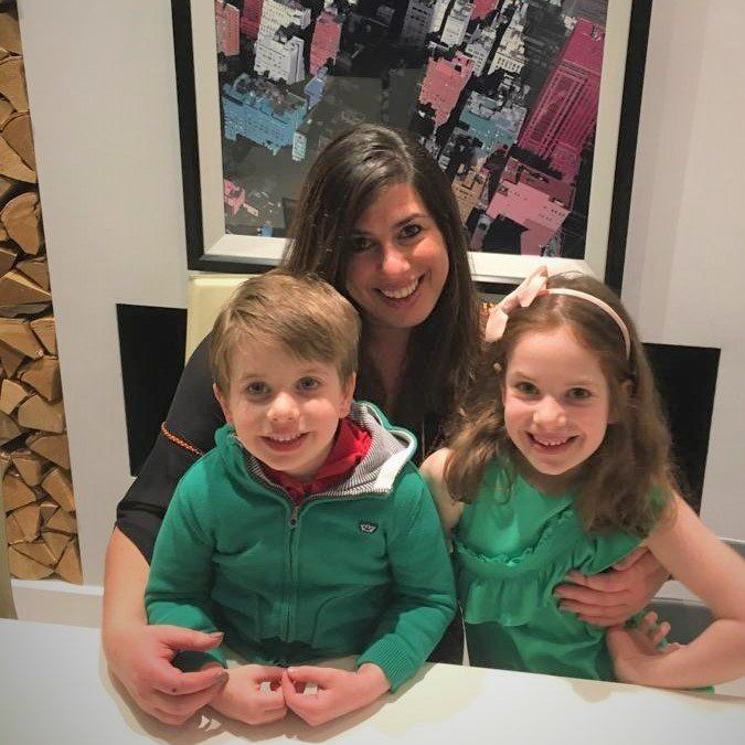 Katy Fridman and her two kids. She is the founder of 'Flexible Working for Mums Like Me'.