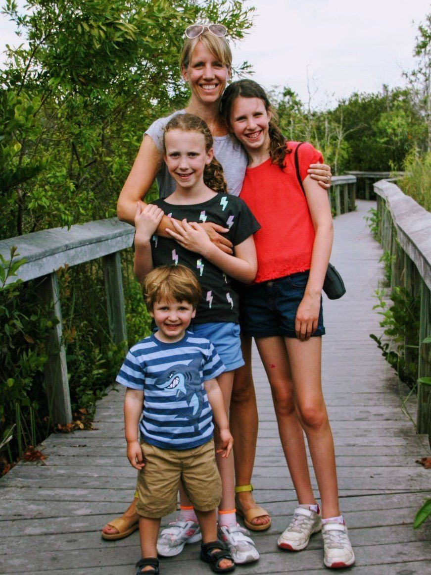 Angela Townley and her three kids.