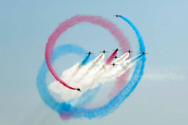 The Red Arrows performing in Pakistan last year.