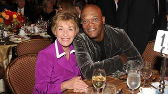 Judge Judy and Samuel L Jackson at an event in 2012