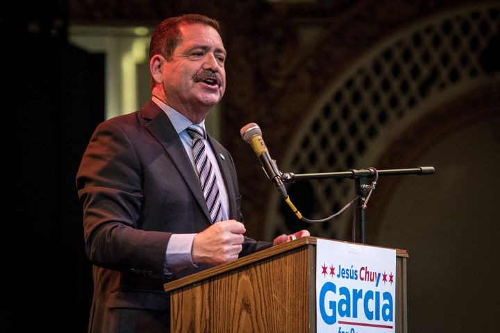 "Jesús ""Chuy"" García won the Democratic primary for the open House seat in Illinois' 4th Congressional Dist"