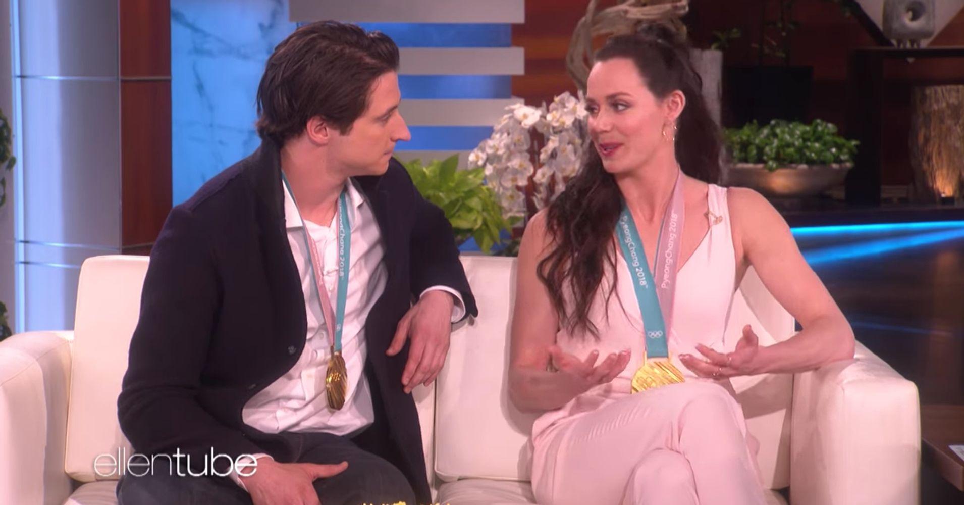 Ellen DeGeneres Has Tessa Virtue And Scott Moir Play 'Definitely Not Dating' Game