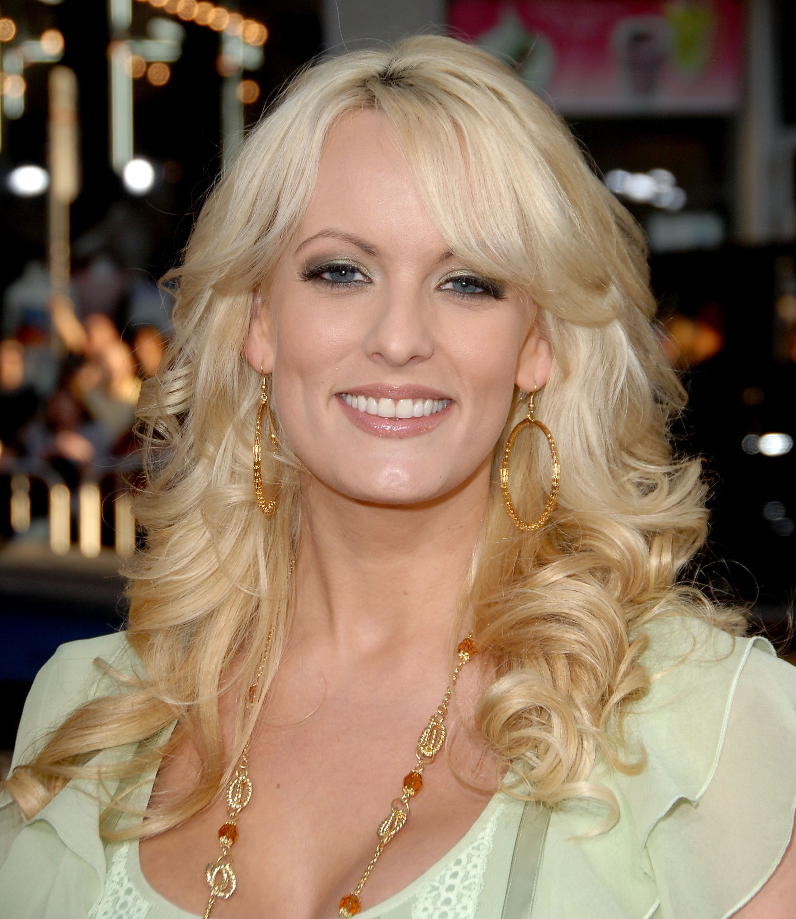 Actress Stormy Daniels arrives at the premiere 'Forgetting Sarah Marshall' at the Grauman's Chinese Theater on April 10, 2008 in Hollywood, California. (Photo by Jon Kopaloff/FilmMagic)