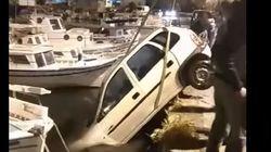 Σύρος: Το λάθος του οδηγού που σταμάτησε για να αγοράσει