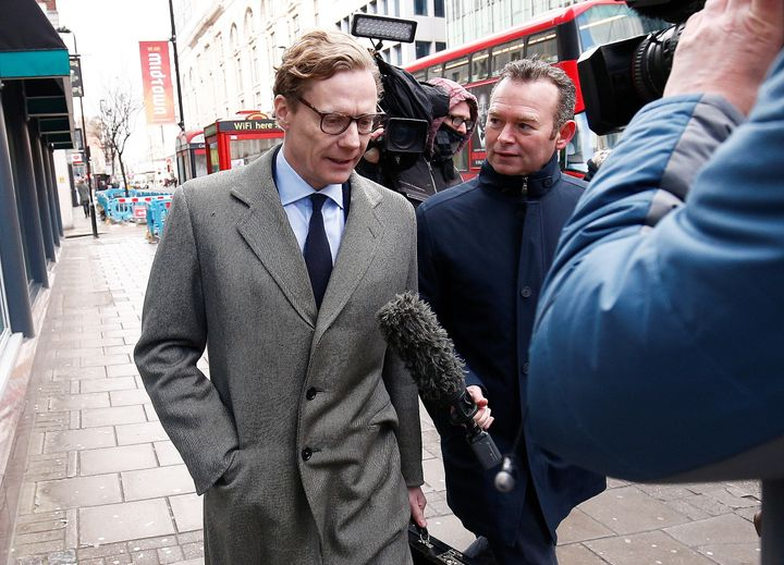 Alexander Nix, CEO of Cambridge Analytica, is seen outside his offices in London on Tuesday.