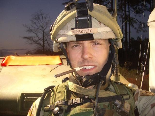 Sgt. Jason Hartley poses for a selfie days before he took down his blog.