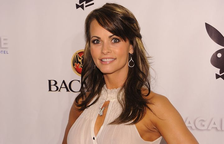 Karen McDougal, who is suing for her right to speak out about her alleged affair with the president, at a Playboy event in 20