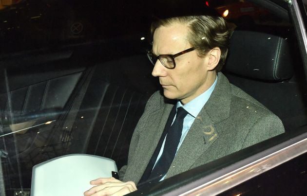 Chief executive of Cambridge Analytica, Alexander Nix, leaves the firm's offices in central