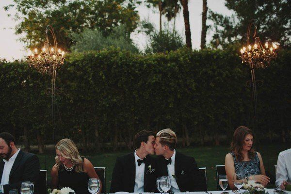 Ditch the sweetheart table so you don't feel like you're on
