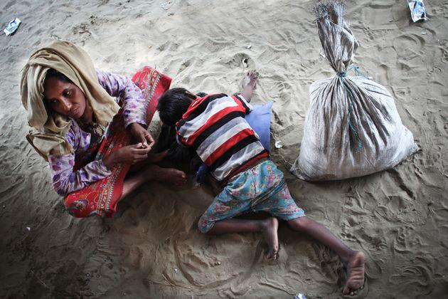 콕스 바자르 반도 남쪽에 위치한 사브랑 진입 지점. 미얀마에서 온 로힝야 난민들이 도착하는