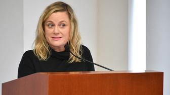 NEW YORK, NY - FEBRUARY 20:  Amy Poehler speaks during the One Fair Wage Event at the Rockefeller Foundation on February 20, 2018 in New York City.  (Photo by Dia Dipasupil/Getty Images)