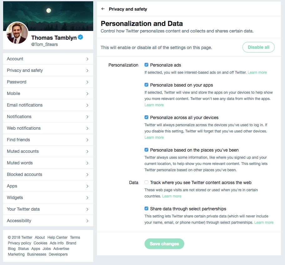 Follow These Simple Steps To Stop Twitter Sharing Your Data With
