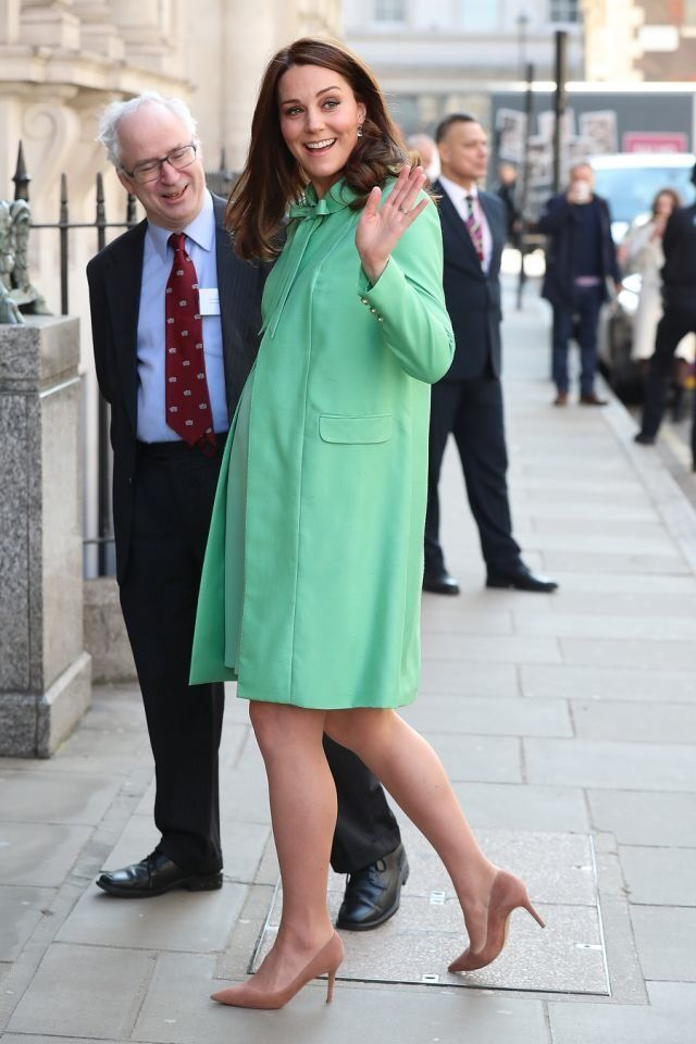 Kate Middleton traded her go-to blue for a bold green.