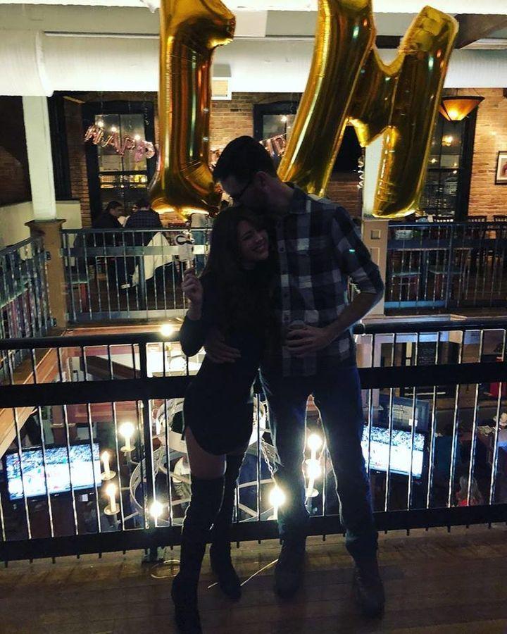 The happy couple IRL.