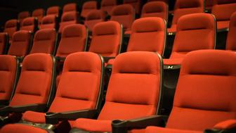 Empty seats in a movie theater,Hangzhou,China