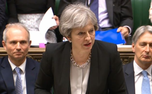 Theresa May in Prime Minister's Question