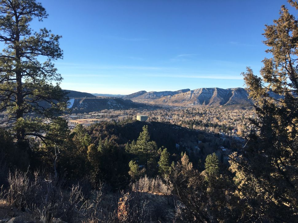 The view of Durango, Colorado, from Animas Mountain just outside of downtown.