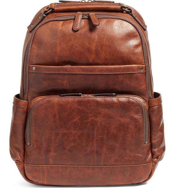 This road-ready backpack made from bench-crafted antique pull-up leather is the perfect old world accessory for your modern w