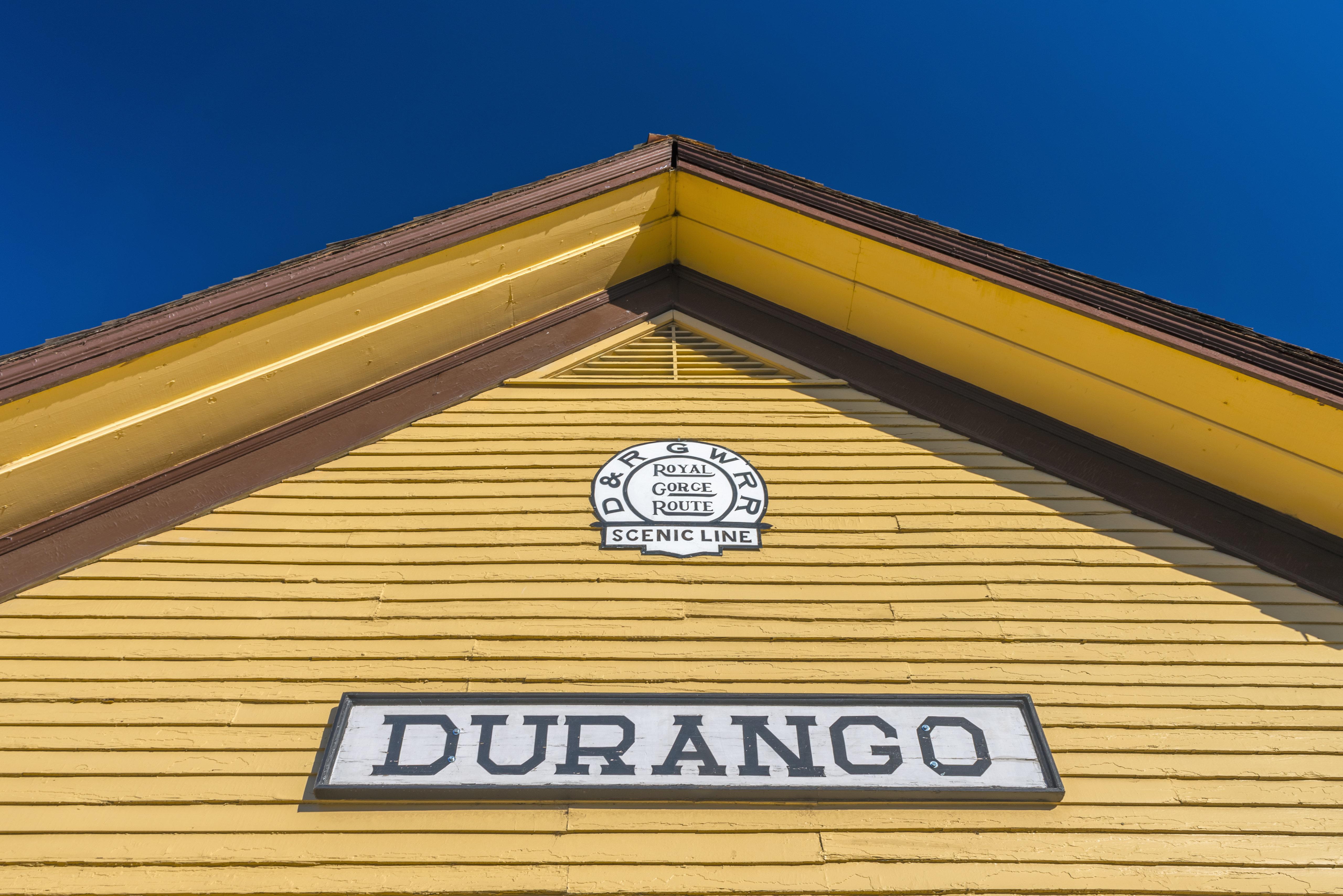 USA, Colorado, Durango, Railway Station for Durango and Silverton Narrow Gauge Railroad