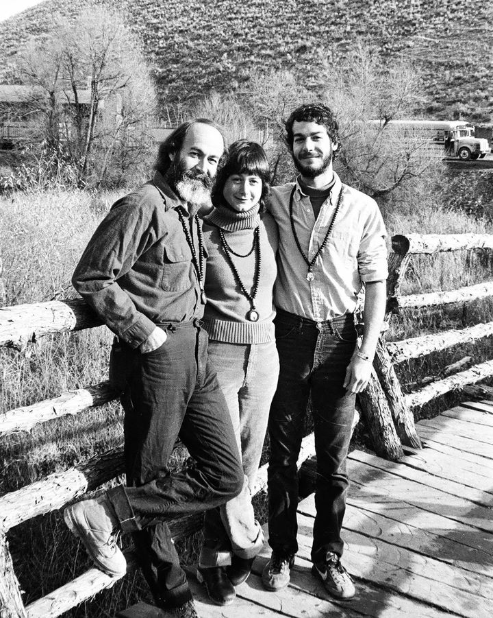 David, Dara and Jamie Burrows, residents of Rancho Rajneesh in Oregon.