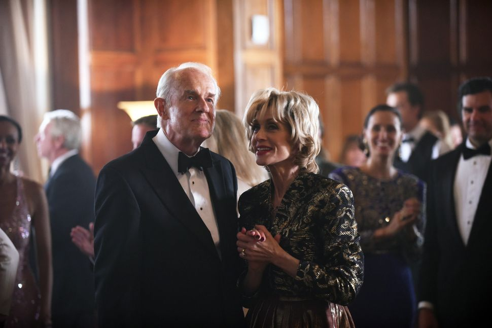 "Mike Farrell and Judith Light in ""The Assassination of Gianni Versace."""
