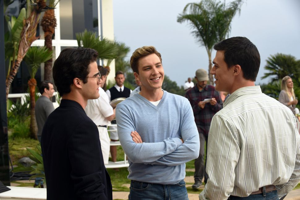 "Darren Criss, Cody Fern and Finn Wittrock in ""The Assassination of Gianni Versace."""