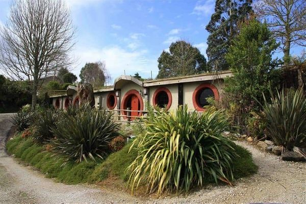 """<a href=""""http://www.woodlynpark.co.nz/"""" target=""""_blank"""">The Hobbit Motel</a> in New Zealand's Woodlyn Park is -- as its name"""