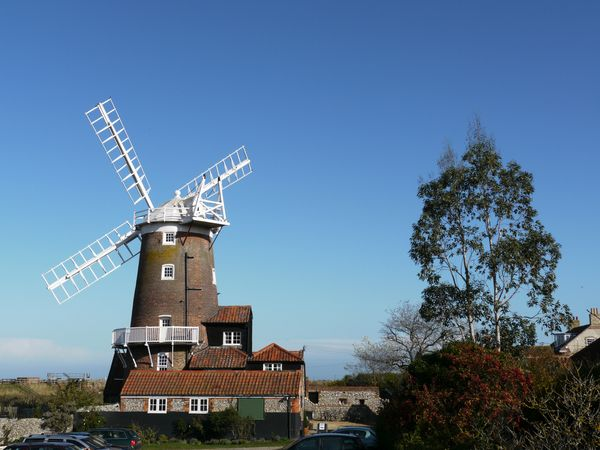 Constructed in the 18th century, the Cley Windmill in Norfolk, England, became a hotel in the 1980s.