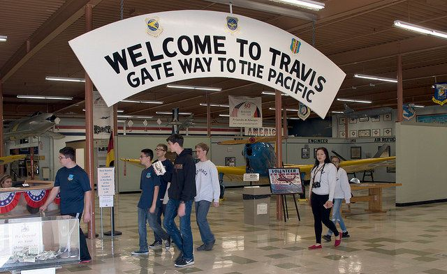 Sign at Travis Air Force Base