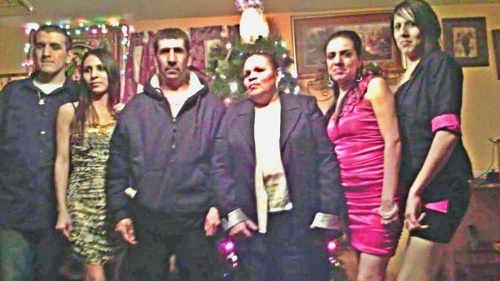 David Chavez-Macias (third from left) pictured with his wife and children. He suffers from Marfan syndrome, a rare genet