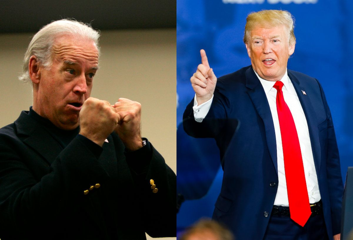 Joe Biden and Donald Trump face off.