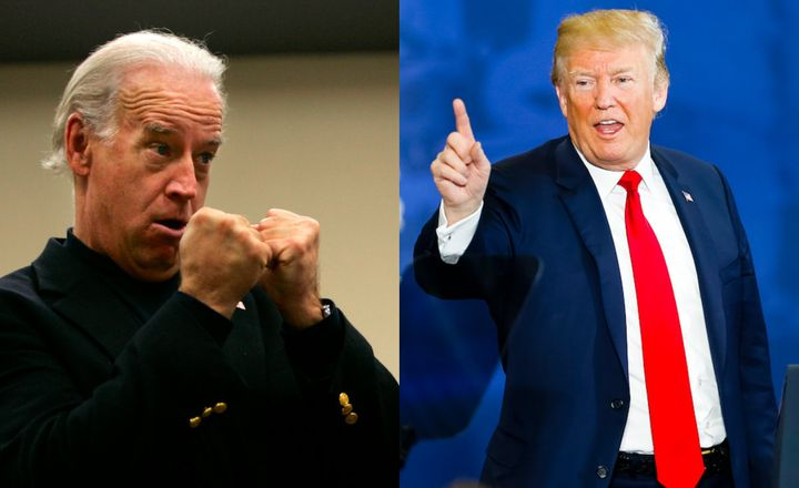 Joe Biden and Donald Trump face off.