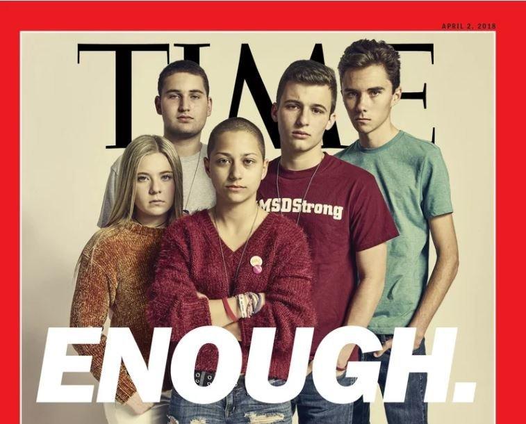 «Αρκετά»: Το νέο εξώφυλλο του περιοδικού Time με τους επιζήσαντες του μακελειού στο