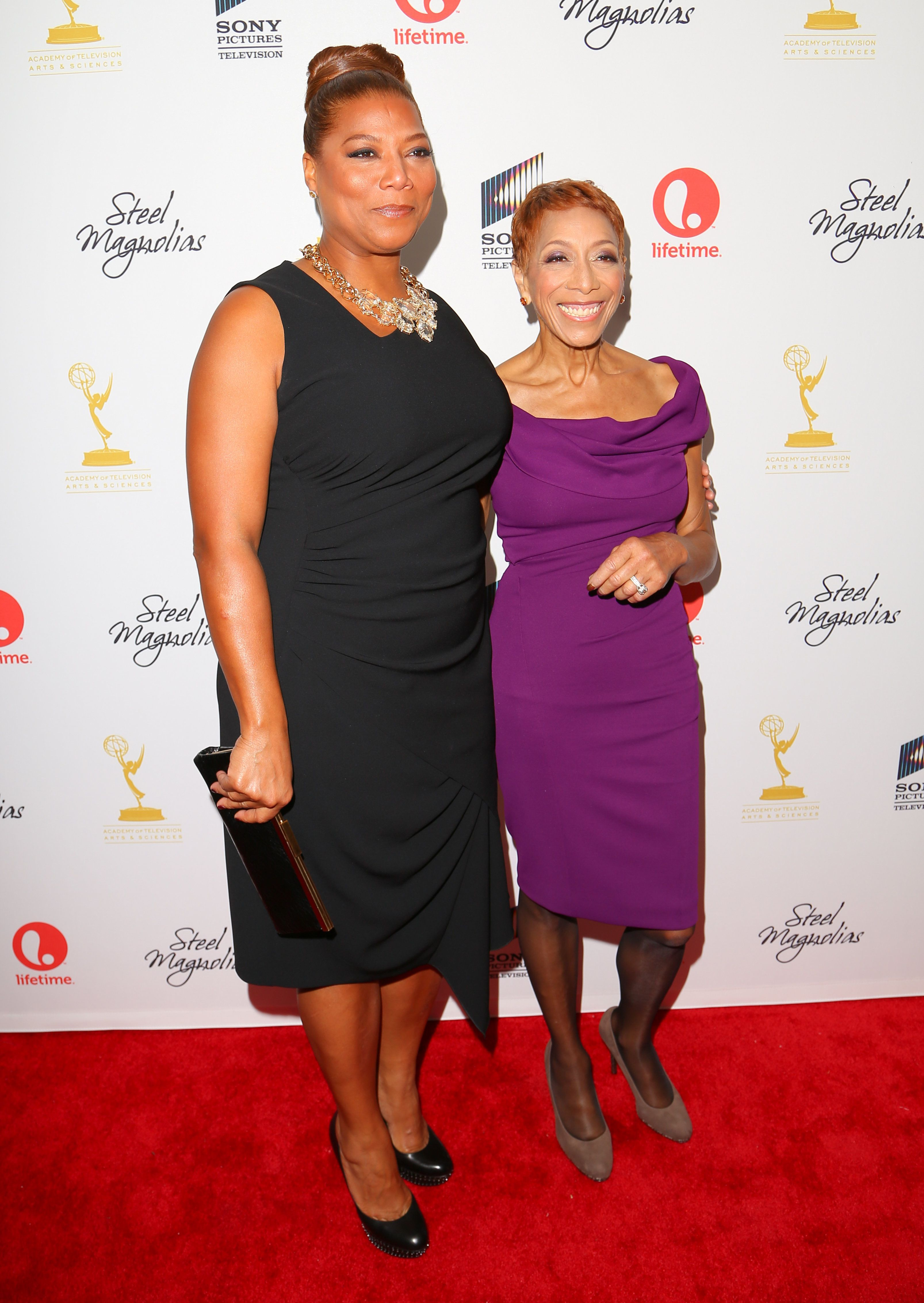 "Queen Latifah and her mother, Rita Owens, attend the ""Steel Magnolias"" premiere at the Paris Theatre on Oct. 3, 2012 in NYC.&"