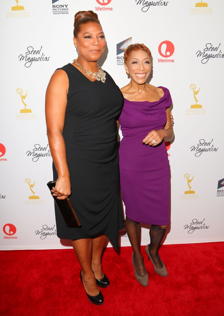 """Queen Latifah and her mother, Rita Owens, attend the """"Steel Magnolias"""" premiere at the Paris Theatre on Oct. 3, 2012 in NYC.&"""
