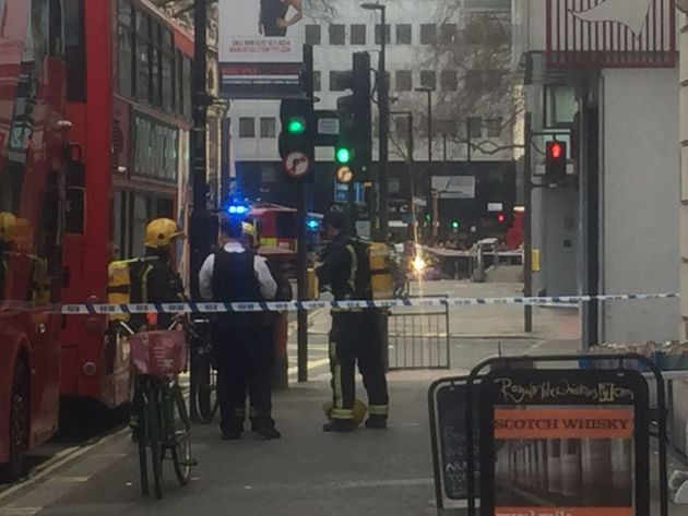 Firefighters attended the scene of the evacuation on