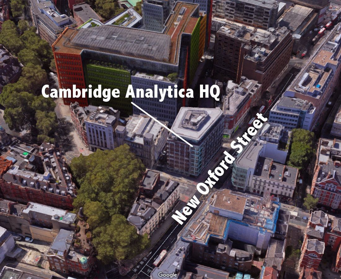 United Kingdom  investigators search Cambridge Analytica's office