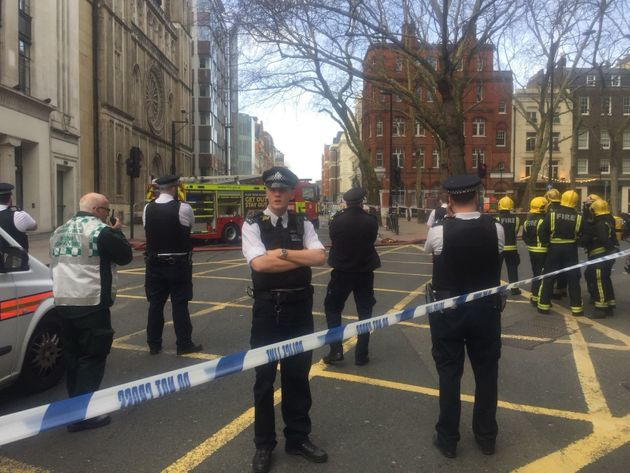 Police were in attendance alongside other emergency services. Officers were called shortly before