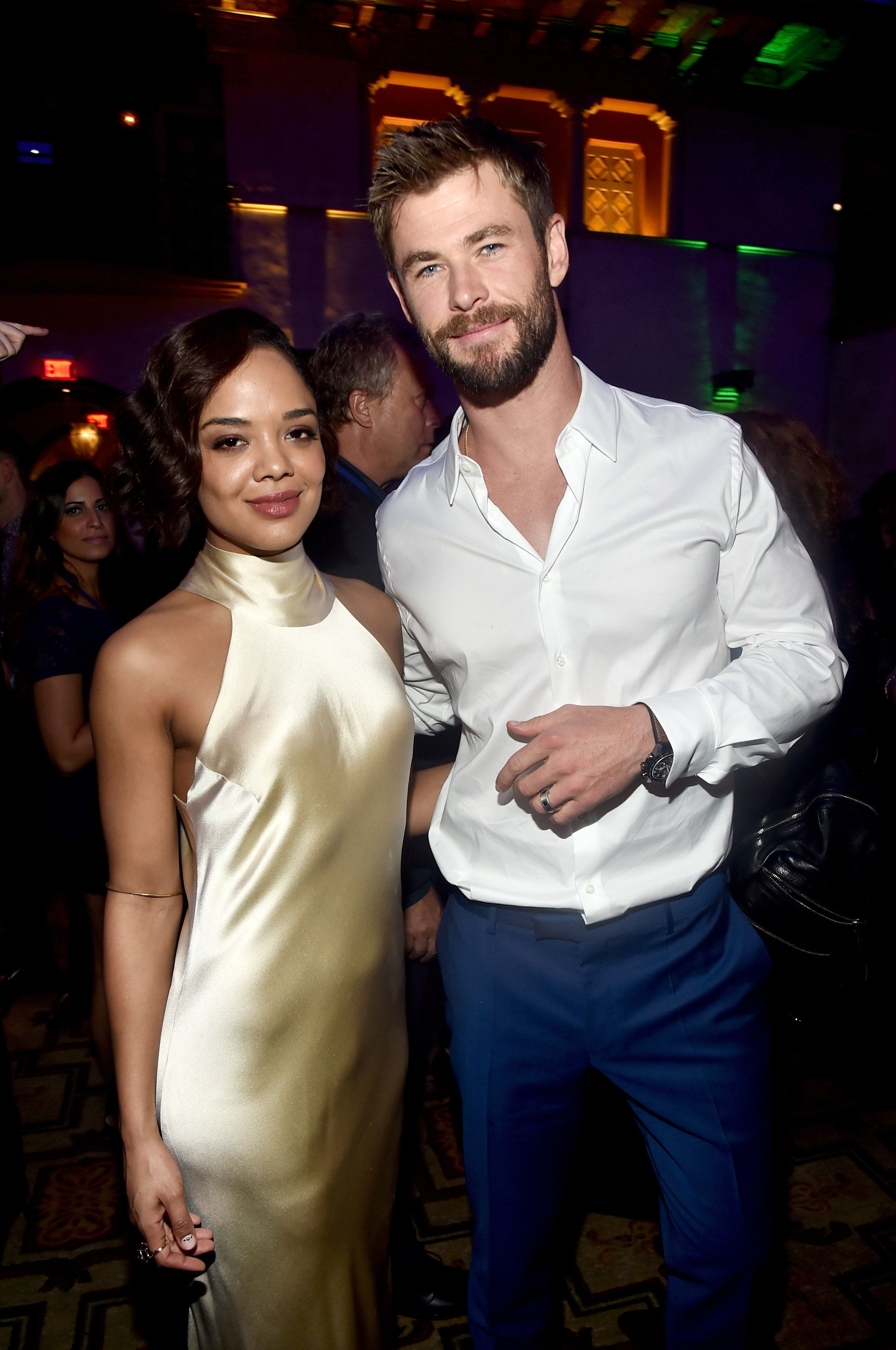 Image result for chris hemsworth and tessa thompson