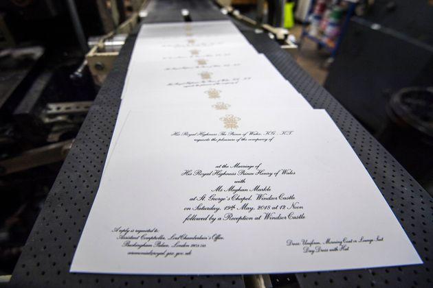 The invitations were produced by printersBarnard &