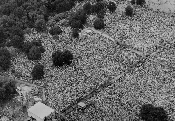 People filled Central Park during the event.