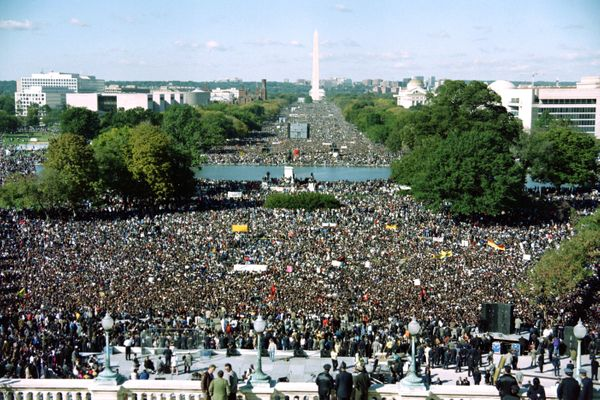 "The ""Million Man March,"" called by Nation of Islam leader Louis Farrakhan, was intended as a day for black men to unite and p"