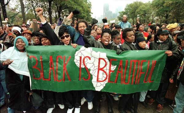 African-American women at the Million Woman March on Oct. 25, 1997 in Philadelphia.