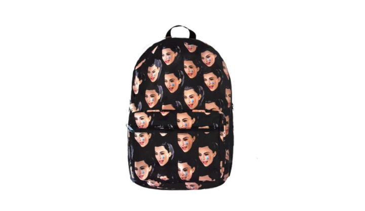 "Kim Kardashian sells her own ""ugly cry"" backpack."