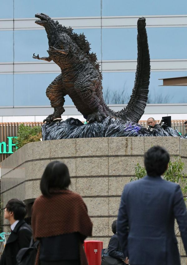 The new Godzilla statue depicts Shin Godzilla from the 2016 film of the same name.