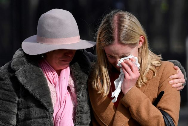 Members of the public were visibly upset as they visited the scene of the terror